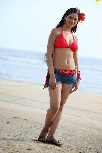 sexy cute telugu model enjoying hot bikini images