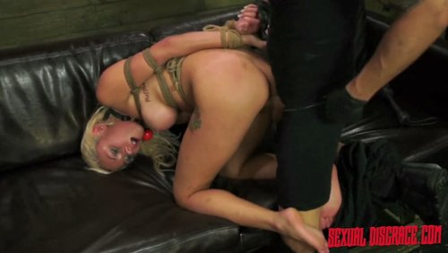 Her bunghole getting ravaged in more than one nasty way 3