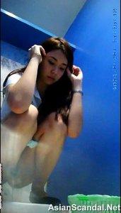 Hidden thailand girl toilet camera spy